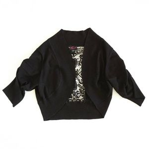 Torrid 2 Bolero Open Front Black Sweater